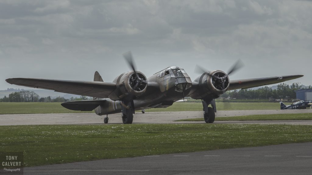 The Blenheim taxiing in